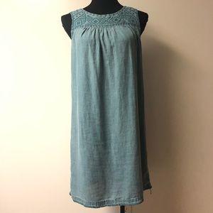 Artisan NY 💯 Linen Teal Shift Dress size Small